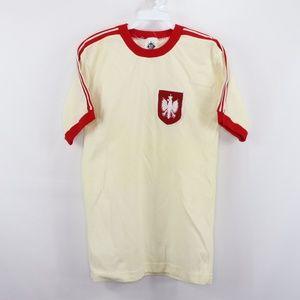Vintage Poland 1982 World Cup Soccer Jersey Cream